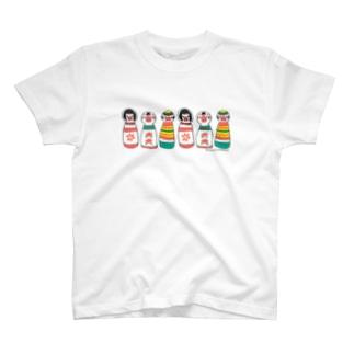 文鳥こけし T-shirts