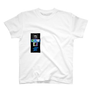 ID STICKER T-Shirt Blue Tシャツ