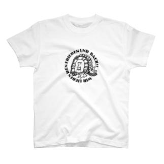 我々は平和とバッハを愛す!type_A T-shirts