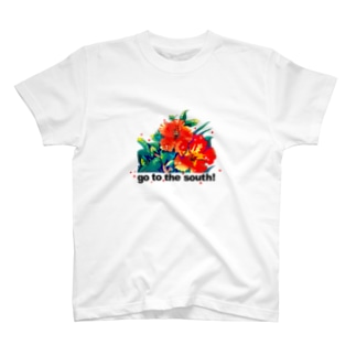 ハイビスカス_goto the south! T-shirts