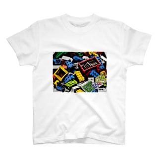 ぶろっくT サイドロゴ T-shirts