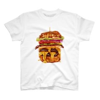飯テロハンバーガー T-shirts