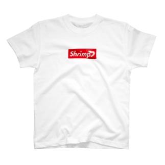 英語でエビはShrimpといいます。 T-shirts