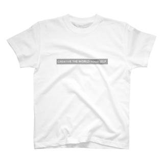 creative the world your self(グレー) T-Shirt