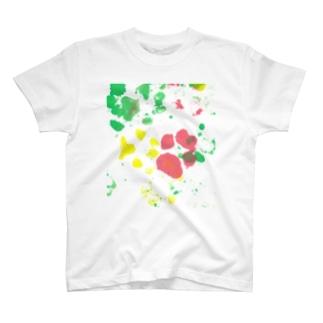 保護犬足跡柄グッズ T-Shirt