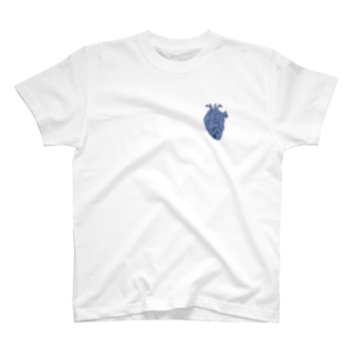 心臓 (青) T-shirts