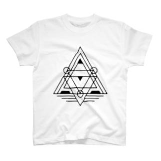 幾何学模様1 T-shirts