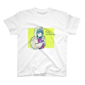 あさきりんのParker×Stuffed toy Girl T-shirts