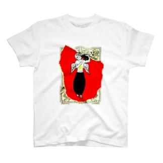 赤い天使と黒猫 T-shirts