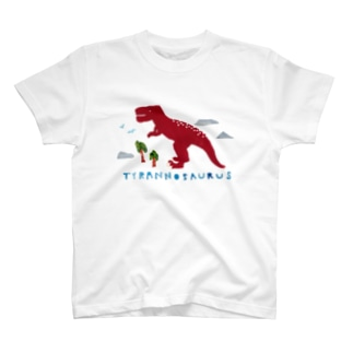 PAPERCUTTINGティラノサウルス T-shirts