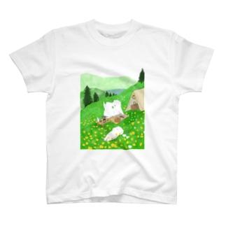 ももろ ののんびりキャンプ T-shirts