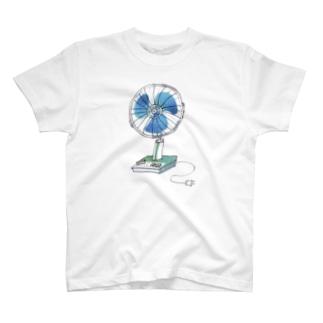 レトロ扇風機 T-shirts