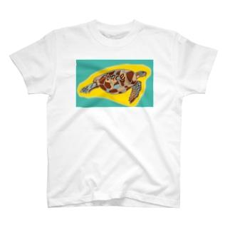 青海ガメ(2) T-shirts