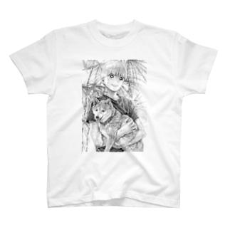 マモルと犬T(抱き上げver.) T-shirts