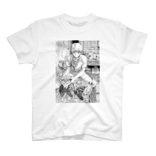 マモルと犬T(犬洗いver.) T-shirts