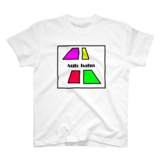 カラフルな台形4つ Auto bahn T-shirts