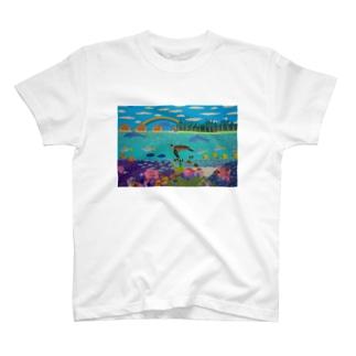 ニューカレドニアのサンゴ礁 T-shirts