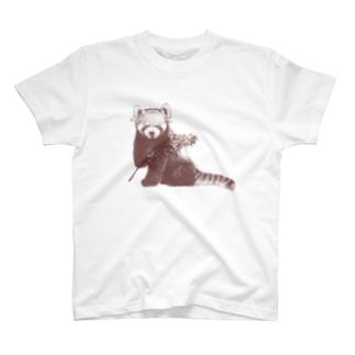 レッサーパンダ(風太モデル) T-shirts