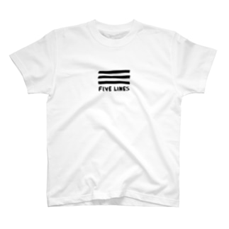 5LINES(フリーハンド) T-shirts