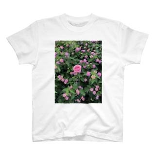 ピンクのお花 T-shirts