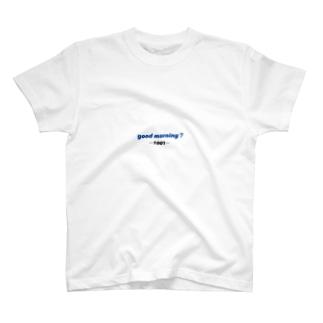 good morningTシャツ🤍💙 T-Shirt