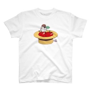 CT174 スズメがちゅん*あっぷるすとあでちゅん T-shirts