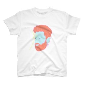 髭面TⅡ T-shirts