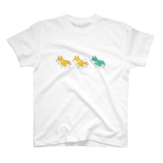 ウォッシング・コーギー 3 T-shirts