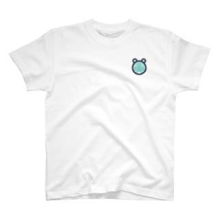 青寅ロゴ前面ワンポイントT T-shirts