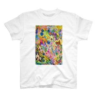 ねこサイケデリック T-Shirt