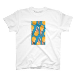 にくらしいかに爪フライ T-shirts