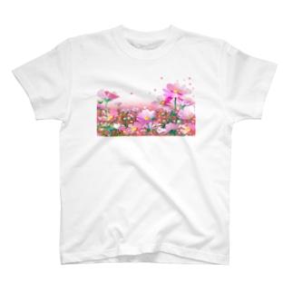 コスモス_02 T-shirts