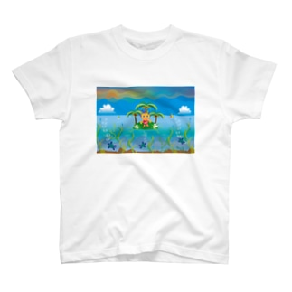 クレコちゃんのウミガメと過ごす夏の一日 T-shirts