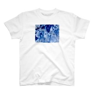 BLUE OIL T-shirts