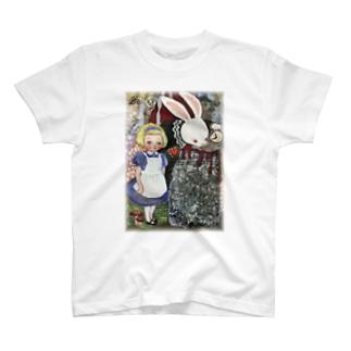 アリス うさぎ T-shirts