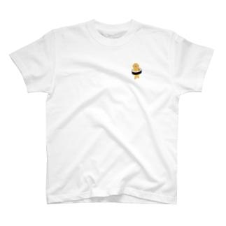 【小】太巻きを自らに巻きつけて運ぶ猫 T-shirts