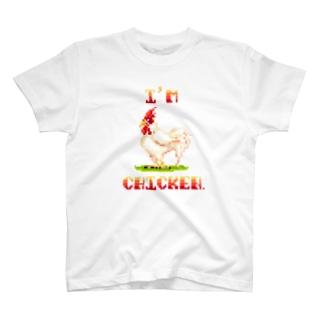 ドットなCHICKENくん♂ T-shirts