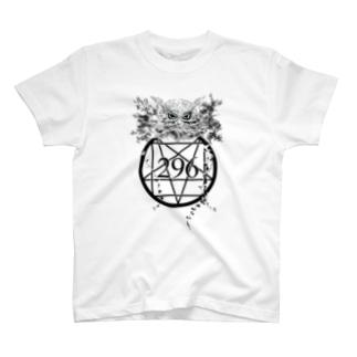 【ネマレ屋】フクロウ(黒色ver) T-shirts