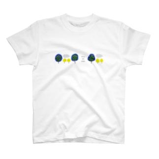森と雲 T-shirts