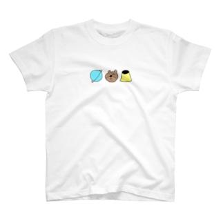 わぬせいくまぷりん T-shirts