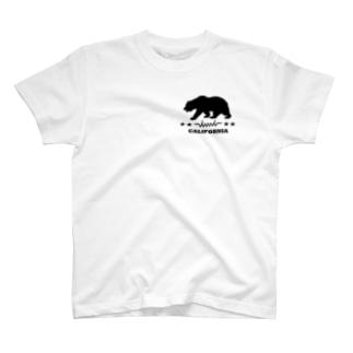 dacci カリフォルニアベアー(黒) T-shirts