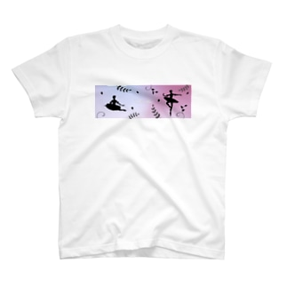 バレエシルエット【サタネラ】グラス・タンブラー T-shirts