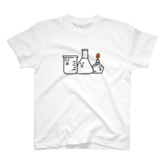 ビーカーくんとそのなかまたちロゴ T-shirts