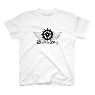 FeatherShipの大空を舞う Feather Ship T-shirts