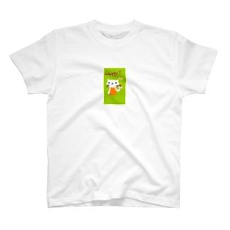 シロねこにゃん T-shirts