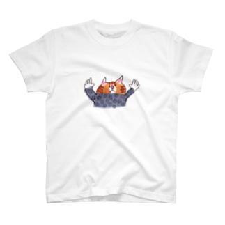 バンザイ水玉ねこ T-shirts