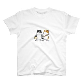 お出かけモルモット(アビシニアン×イングリッシュ) T-shirts