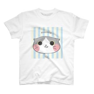 ねここ(すこてぃっしゅ) 猫 T-shirts