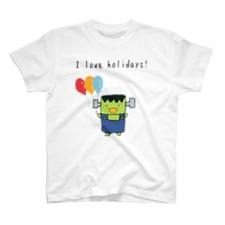 I love holidays! ふらんけん君 T-shirts