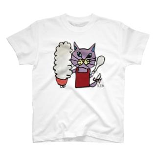 NEKO KEN お母さんネコTシャツ T-Shirt